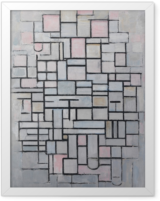 Plakat w ramie Piet Mondrian - Kompozycja nr 4 - Reprodukcje