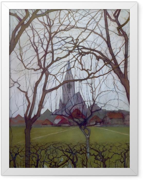 Poster en cadre Piet Mondrian - Église de village - Reproductions