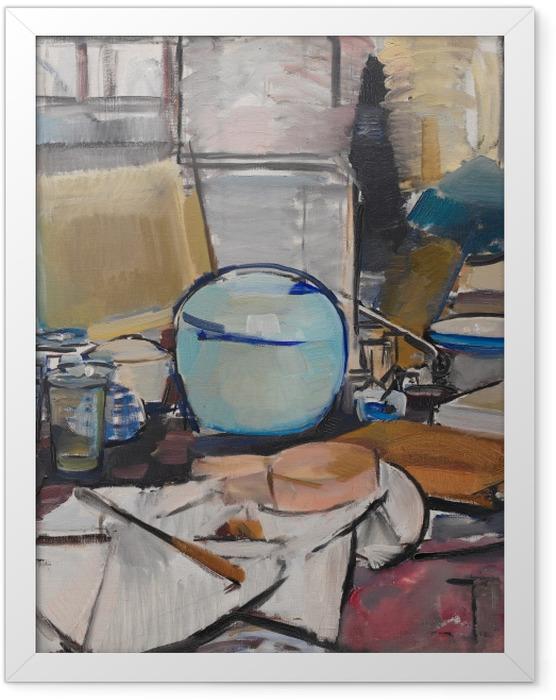 Poster en cadre Piet Mondrian - La nature morte au pot de gingembre - Reproductions