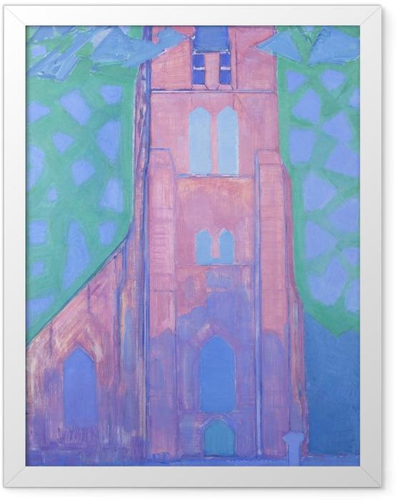 Gerahmtes Poster Piet Mondrian - Zeeländischer Kirchturm - Reproduktion