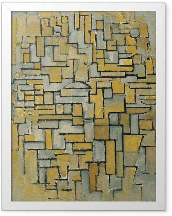 Gerahmtes Poster Piet Mondrian - Komposition - Reproduktion