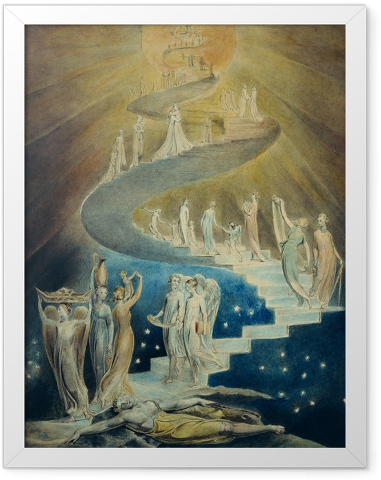 Plakat w ramie William Blake - Drabina Jakuba - Reprodukcje