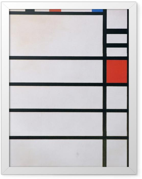 Gerahmtes Poster Piet Mondrian - Trafalgar Square - Reproduktion