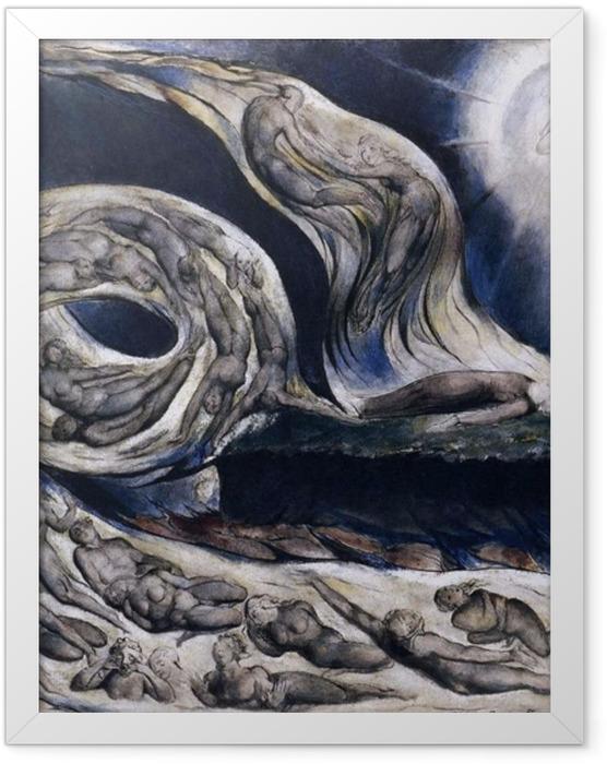 Gerahmtes Poster William Blake - Der Wirbelwind der Liebenden - Reproduktion