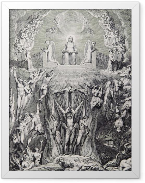 Poster en cadre William Blake - Une vision du Jugement dernier, - Reproductions