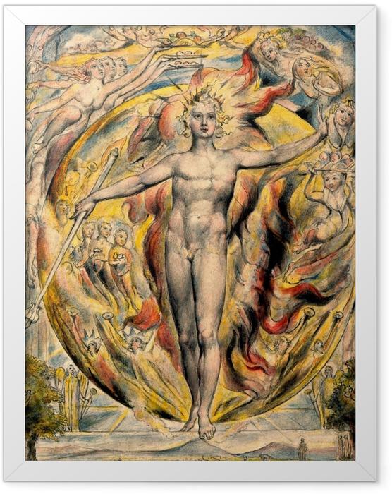 Plakat w ramie William Blake - Mojżesz - Reprodukcje