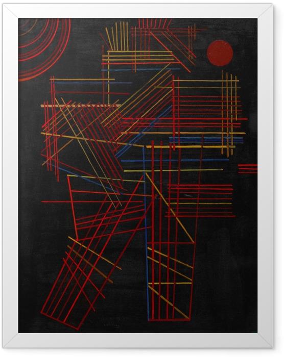 Plakat w ramie Wassily Kandinsky - Barwne patyki - Reprodukcje
