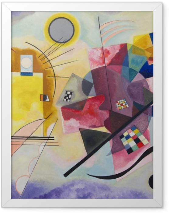 Poster en cadre Vassily Kandinsky - Jaune – rouge – bleu - Reproductions