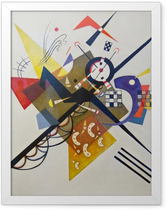 Poster en cadre Vassily Kandinsky - Sur blanc no 2 - Reproductions