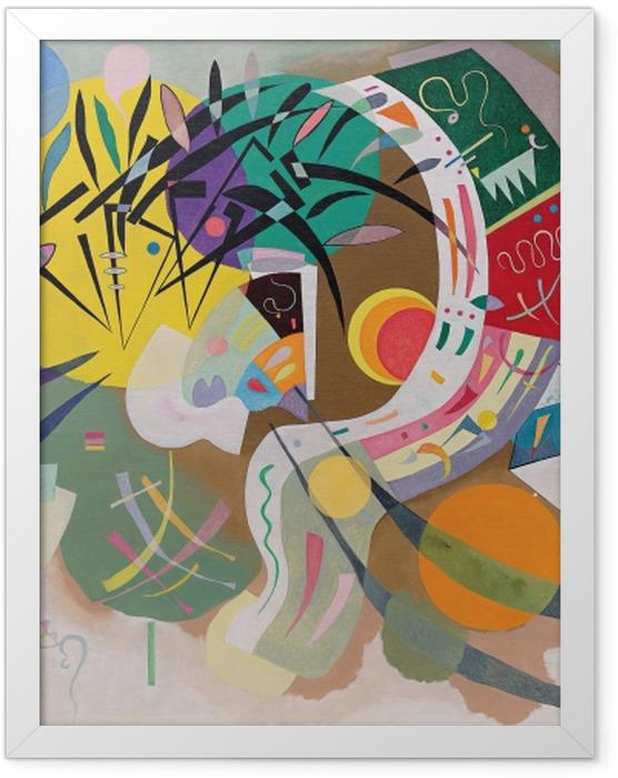 Poster en cadre Vassily Kandinsky - Courbe dominante - Reproductions