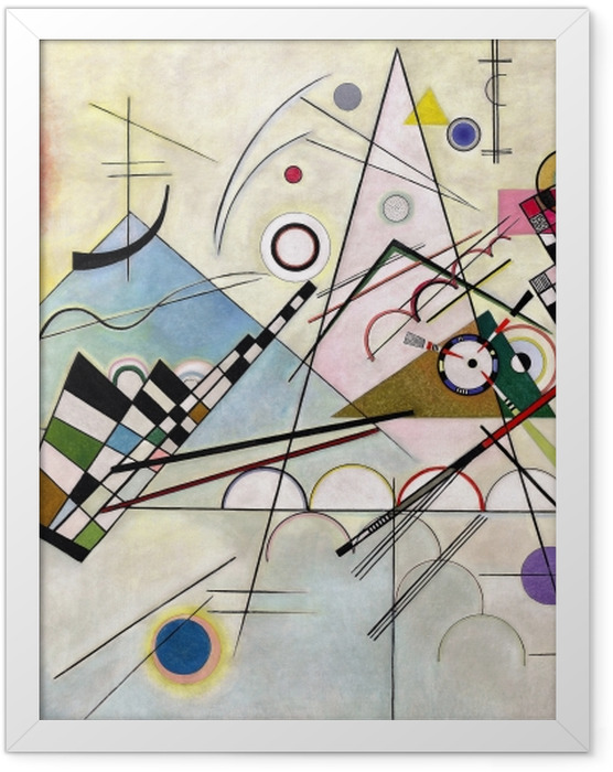 Poster en cadre Vassily Kandinsky - Composition VIII - Reproductions