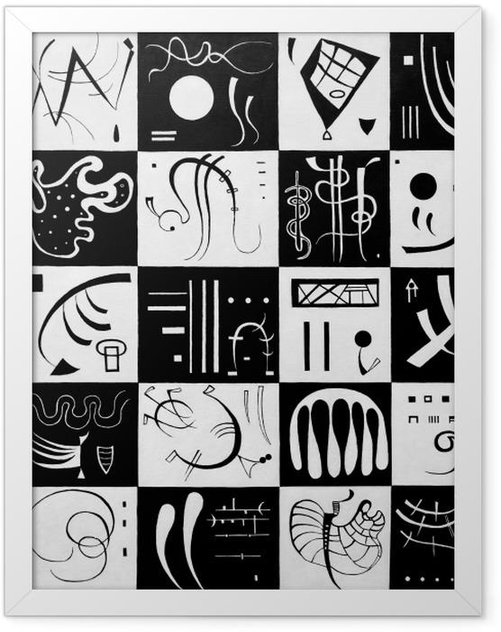 Gerahmtes Poster Wassily Kandinsky - Dreißig - Reproduktion