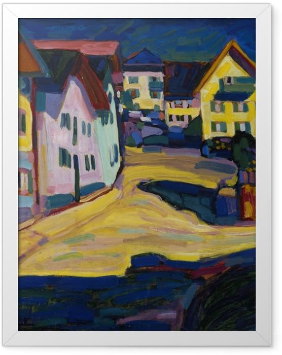 Gerahmtes Poster Wassily Kandinsky - Murnau Burggrabenstrasse - Reproduktion