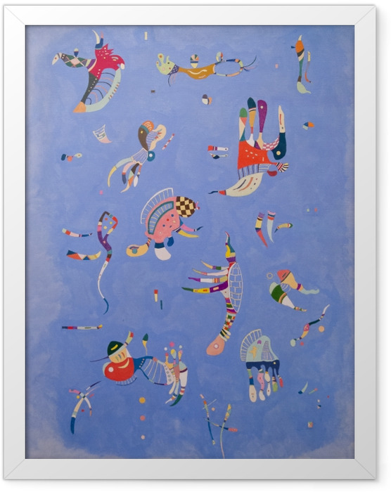 Poster en cadre Vassily Kandinsky - Bleu de ciel - Reproductions