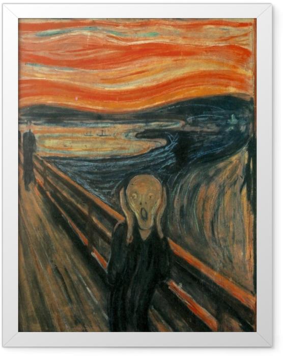 Plakat w ramie Edvard Munch - Krzyk - Reprodukcje