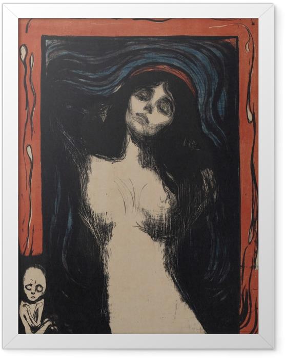 Gerahmtes Poster Edvard Munch - Madonna - Reproduktion
