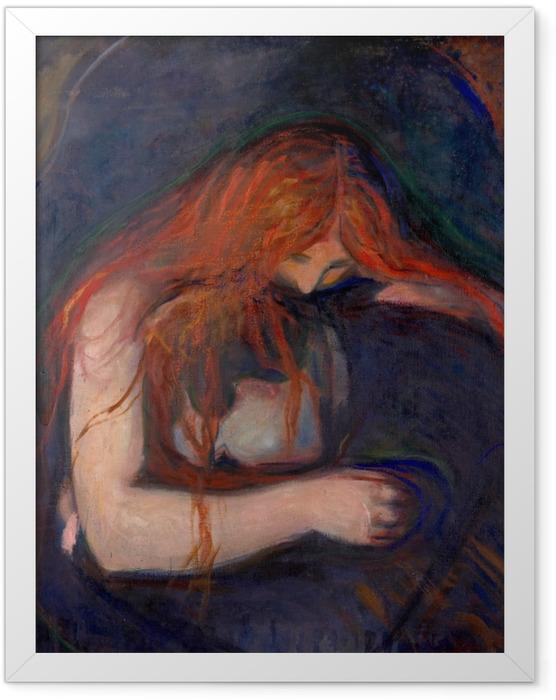 Poster en cadre Edvard Munch - Vampire - Reproductions