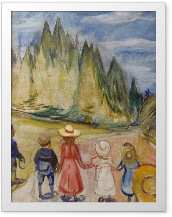 Plakat w ramie Edvard Munch - Bajkowy Las - Reprodukcje