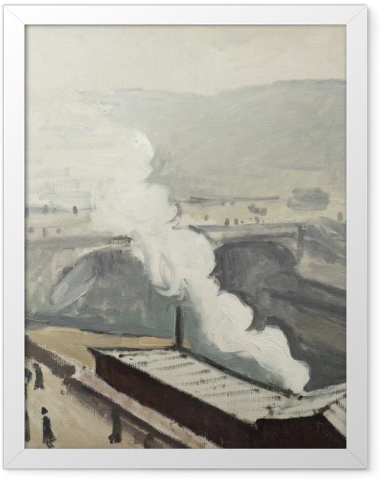 Plakat w ramie Albert Marquet - Dym na nabrzeżu Saint-Michel - Reproductions