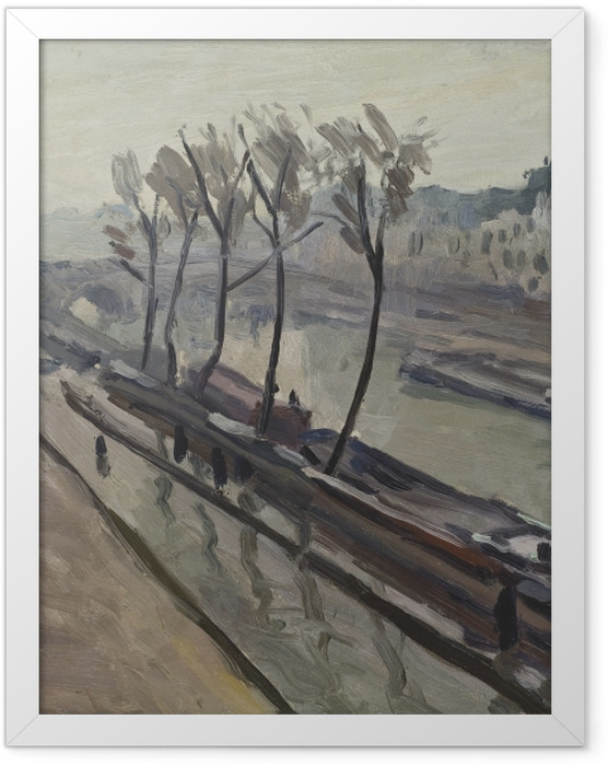 Plakat w ramie Albert Marquet - Nabrzeże Grands-Augustins w deszczu - Reproductions