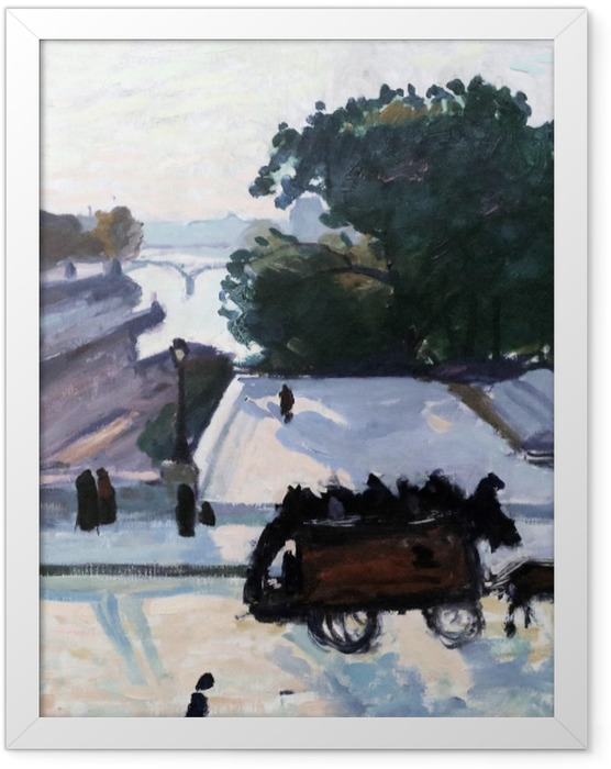 Plakat w ramie Albert Marquet - Paryż. Most Pont Neuf latem. - Reproductions
