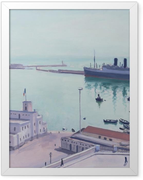 Plakat w ramie Albert Marquet - Port w Algierze, Gmach Admiralicji - Reproductions