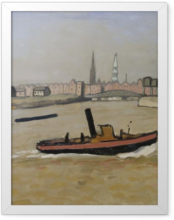Gerahmtes Poster Albert Marquet - Hamburger Hafen - Reproductions