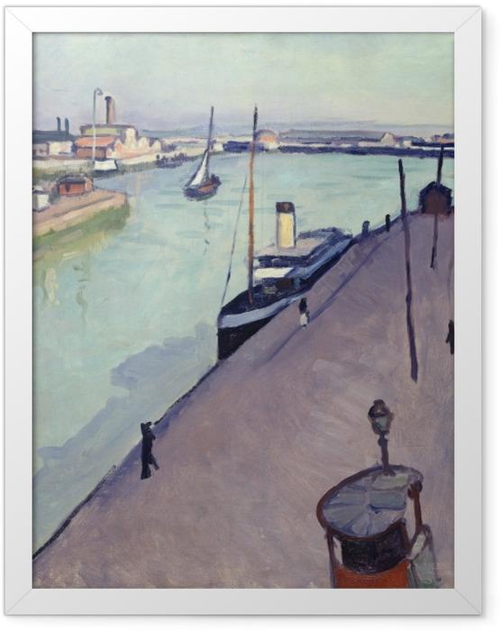 Plakat w ramie Albert Marquet - Widok na port w Hawrze (nabrzeże Notre Dame) - Reproductions