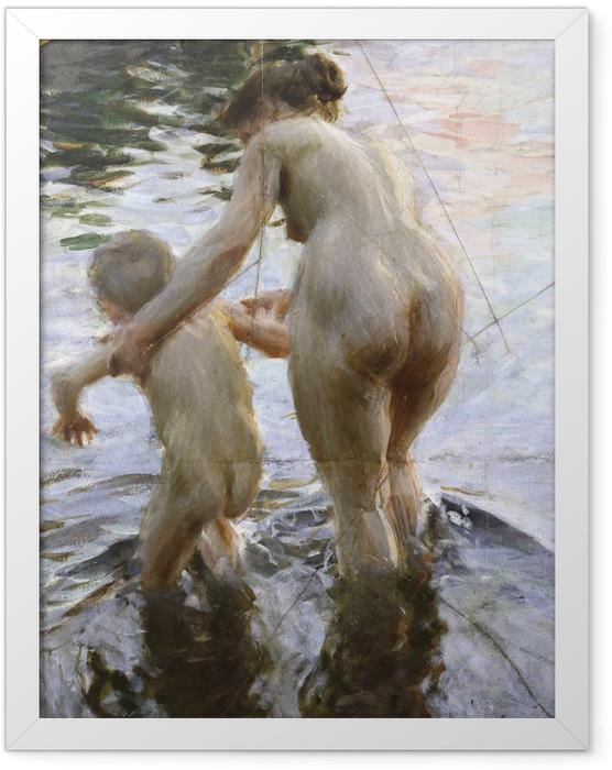 Poster en cadre Anders Zorn - Première fois - Reproductions