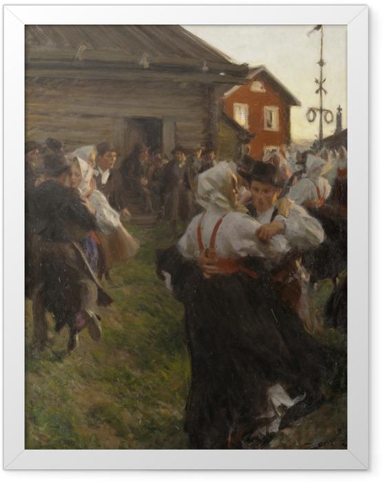 Plakat w ramie Anders Zorn - Taniec w noc świętojańską - Reproductions