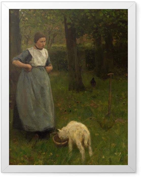 Gerahmtes Poster Anton Mauve - Eine Frau aus Laren mit einem Schaf - Reproductions