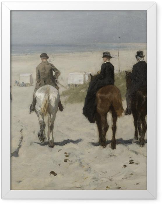 Poster en cadre Anton Mauve - Balade matinale sur la plage - Reproductions