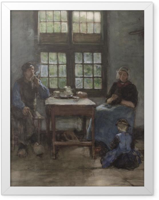 Gerahmtes Poster Anton Mauve - Interieur eines Haus in Laren - Reproductions
