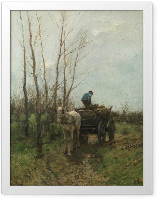Gerahmtes Poster Anton Mauve - Holz sammeln - Reproductions
