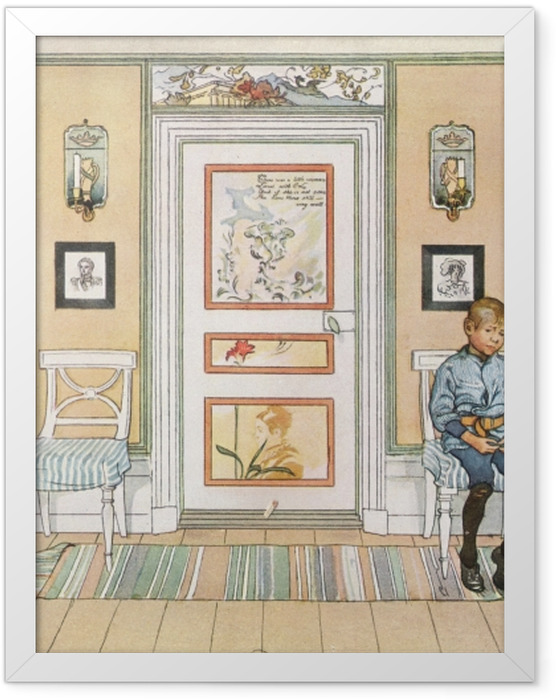 Gerahmtes Poster Carl Larsson - In der Ecke - Reproductions