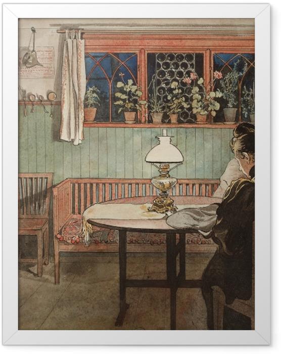 Plakat w ramie Carl Larsson - Gdy dzieci śpią - Reproductions