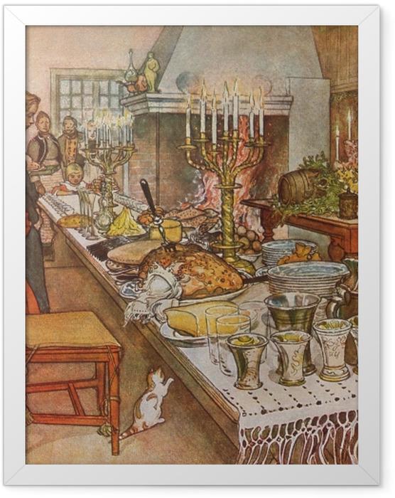 Poster en cadre Carl Larsson - Réveillon de Noël - Reproductions