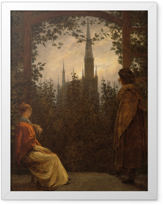 Poster en cadre Caspar David Friedrich - Gazebo à Greifswald - Reproductions