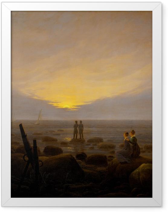 Poster en cadre Caspar David Friedrich - Lever de lune sur la mer - Reproductions