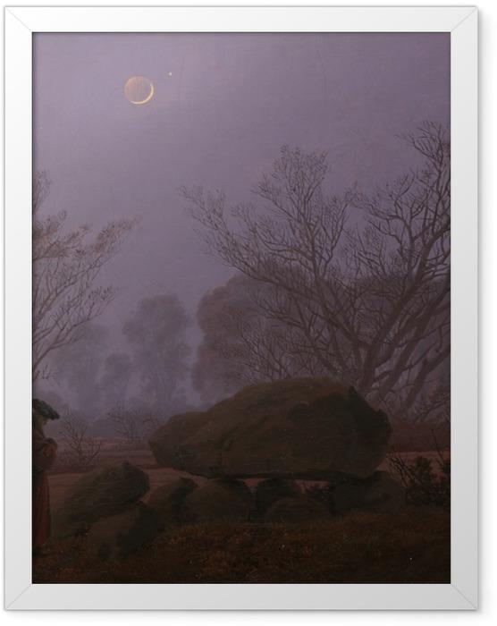 Plakat w ramie Caspar David Friedrich - Spacer o zmierzchu - Reproductions