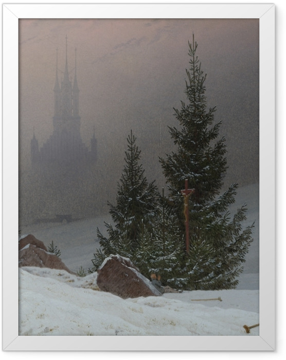 Gerahmtes Poster Caspar David Friedrich - Winterlandschaft II - Reproductions