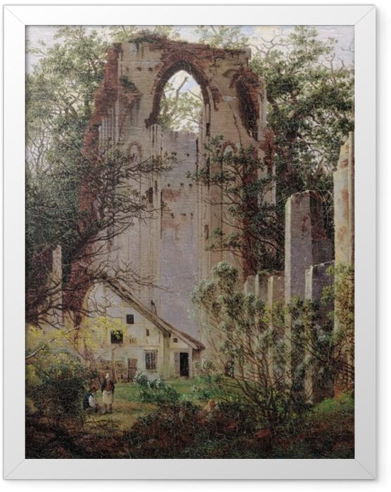 Plakat w ramie Caspar David Friedrich - Ruiny klasztoru Eldena - Reproductions