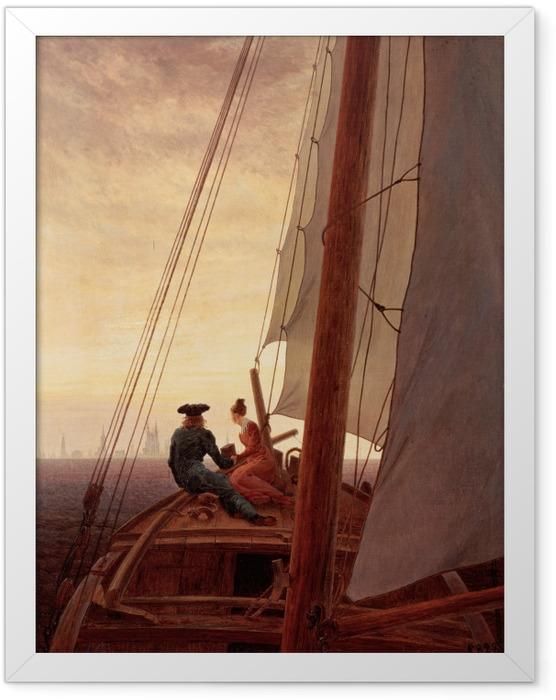 Gerahmtes Poster Caspar David Friedrich - Segelschiff - Reproductions