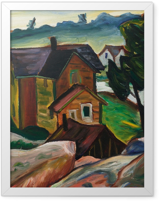 Gerahmtes Poster Efa Prudence Heward - Whitefish Falls Wasserfall, georgische Bucht - Reproductions