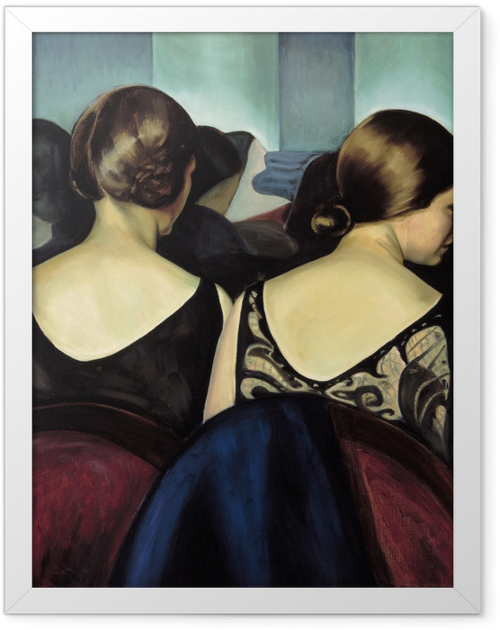 Gerahmtes Poster Efa Prudence Heward - Im Theater - Reproductions