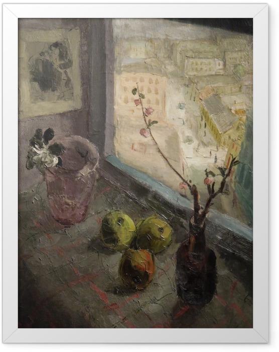 Plakat w ramie Efraim i Menasze Seidenbeutlowie - Widok z okna - Reproductions