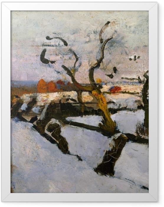 Poster en cadre Floris Verster - Etude de la neige - Reproductions