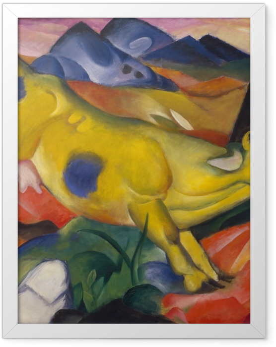 Poster en cadre Franz Marc - Vache jaune - Reproductions