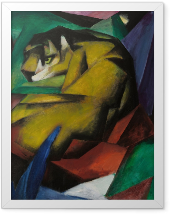 Gerahmtes Poster Franz Marc - Tiger - Reproductions