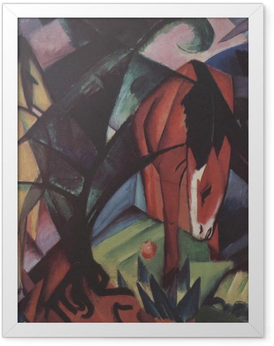Poster en cadre Franz Marc - Chevaux et aigle - Reproductions